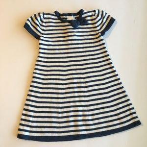 Gymboree Navy/White Stripe sweater dress 18-24M